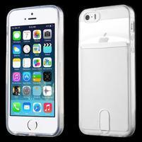 Ultra tenký obal s kapsičkou pro iPhone 5 a 5s - transparentní