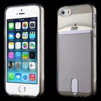 Ultra tenký obal s kapsičkou pro iPhone 5 a 5s - šedý