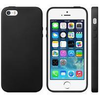Gelový obal s texturou na iPhone 5 a 5s - černý