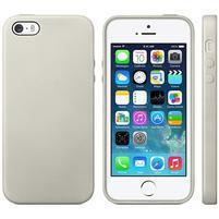 Gélový obal s textúrou na iPhone 5 a 5s - sivý