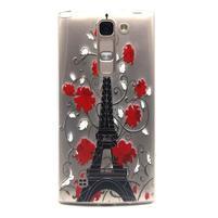 Průhledný gelový obal na LG G4c - Eiffelova věž