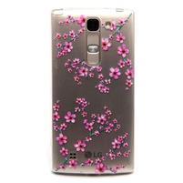 Průhledný gelový obal na LG G4c - švestkové květy