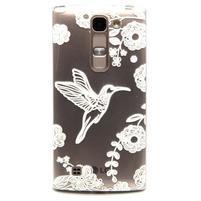 Průhledný gelový obal na LG G4c - ptáček