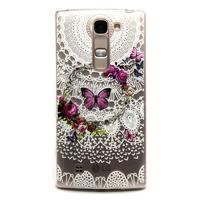 Průhledný gelový obal na LG G4c - motýlci
