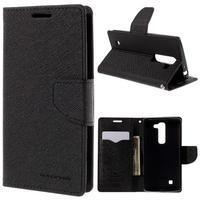 Diary PU kožené pouzdro na LG G4c - černé