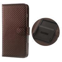 Carbon univerzálne výsuvné puzdro na telefóny v šírke 53-80 mm - tmavohnedé