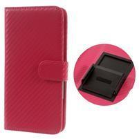 Carbon univerzálne výsuvné puzdro na telefóny v šírke 53-80 mm - rose