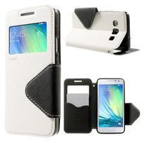 Roar peněženkové pouzdro s okýnkem na Samsung Galaxy A3 - bílé