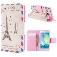 Pouzdro na mobil Samsung Galaxy A3 - Eiffelova věž