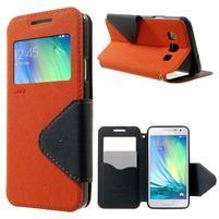 Roar peněženkové pouzdro s okýnkem na Samsung Galaxy A3 - oranžové