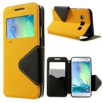 Roar peněženkové pouzdro s okýnkem na Samsung Galaxy A3 - žluté