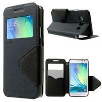 Roar peněženkové pouzdro s okýnkem na Samsung Galaxy A3 - tmavěmodré