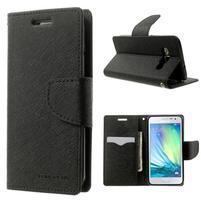 Diary PU kožené pouzdro na Samsung Galaxy A3 - černé