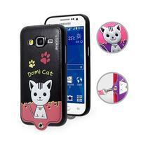 Kočička Domi obal na mobil Samsung Galaxy Core Prime - černý