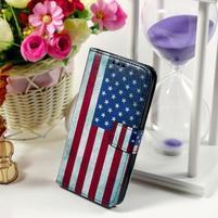 Pouzdro na mobil Samsung Galaxy Core Prime - US vlajka