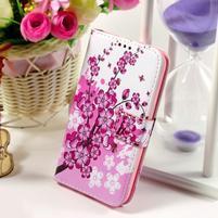 Pouzdro na mobil Samsung Galaxy Core Prime - kvetoucí větvička