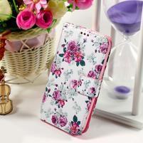 Pouzdro na mobil Samsung Galaxy Core Prime - květiny