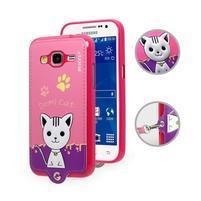 Kočička Domi obal na mobil Samsung Galaxy Core Prime - rose