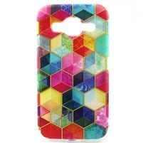 Gelový kryt na mobil Samsung Galaxy Core Prime - barvy hexagonu