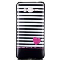 Jelly gelový obal na mobil Samsung Galaxy Grand Prime - srdce