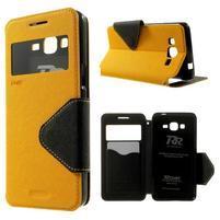 Safety pouzdro s okýnkem pro Samsung Galaxy Grand Prime - žluté