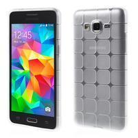 Square gelový obal na Samsung Galaxy Grand Prime - bílý