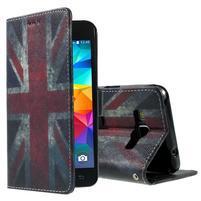 Wallet PU kožené pouzdro na mobil Samsung Galaxy Grand Prime - UK vlajka