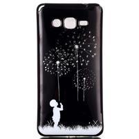 Jelly gelový obal na mobil Samsung Galaxy Grand Prime - pampelišky
