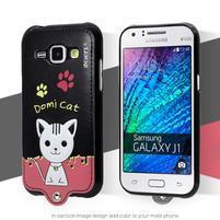 Domi gelové pouzdro s kočičkou na Samsung Galaxy J1 - černé