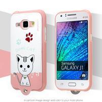 Domi gelové pouzdro s kočičkou na Samsung Galaxy J1 - bílé