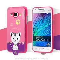 Domi gelové pouzdro s kočičkou na Samsung Galaxy J1 - rose