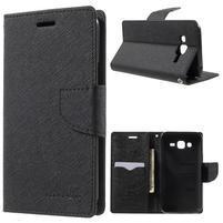 Diary stylové peněženkové pouzdro na Samsung Galaxy J5 - černé