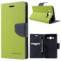Diary štýlové peňaženkové puzdro pre Samsung Galaxy J5 -  zelené