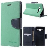 Diary stylové peněženkové pouzdro na Samsung Galaxy J5 - azurové