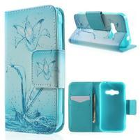 Vzorové peněženkové pouzdro na Samsung Galaxy Xcover 3 - vodní květ
