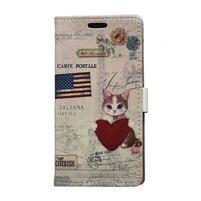 Peněženkové pouzdro na Samsung Galaxy Xcover 3 - koťátko