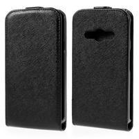 Flipové koženkové pouzdro na Samsung Galaxy Xcover 3 - černé