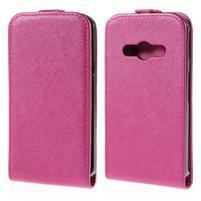 Flipové koženkové pouzdro na Samsung Galaxy Xcover 3 - růžové
