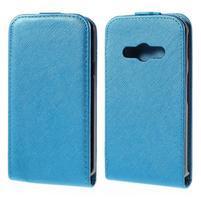 Flipové koženkové pouzdro na Samsung Galaxy Xcover 3 - modré