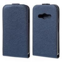 Flipové koženkové pouzdro na Samsung Galaxy Xcover 3 - tmavěmodré