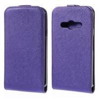 Flipové koženkové pouzdro na Samsung Galaxy Xcover 3 - fialové