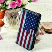 Stylové peněženkové pouzdro pro Samsung Galaxy Xcover 3 - US vlajka