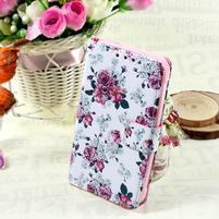 Stylové peněženkové pouzdro pro Samsung Galaxy Xcover 3 - květinová koláž