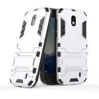 Defender odolný obal na mobil Nokia 1 - stříbrný
