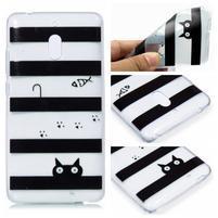 Patt silikonový kryt na mobil Nokia 2.1 - kočky a pruhy