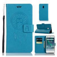 Dream PU kožené flipové pouzdro pro Nokia 2.1 - modré