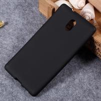 Matný gelový obal na Nokia 3 - černý