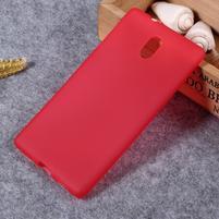 Matný gelový obal na Nokia 3 - červený