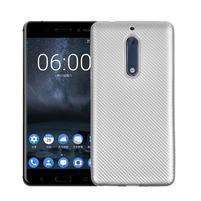 CarboSoft gelový obal na Nokia 5 - stříbrný