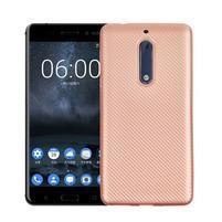 CarboSoft gelový obal na Nokia 5 - růžovozlatý